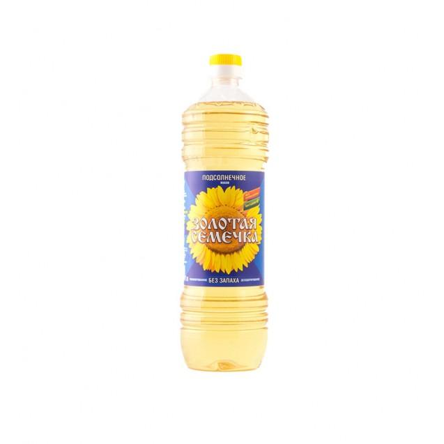 Масло подсолнечное (Золотая семечка), ГОСТ, Россия, 1 л