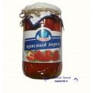 Красный перец (KIBARO), маринованный в растительном масле, Армения, 720 мл.
