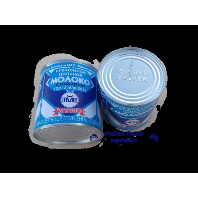"""Сгущенное цельное молоко с сахаром """"Рогачев"""", Беларусь, 380 гр."""