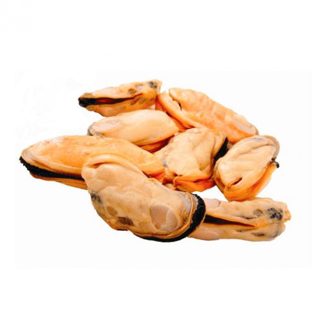 Мясо голубых мидий варено-мороженное 200-300, Чили, 1кг.