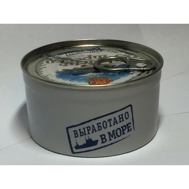 Печень трески по-мурмански, изготовлено в море 190гр.