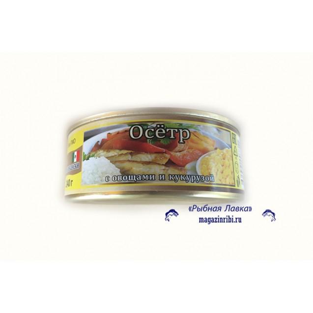 """Осетр с овощами и кукурузой """"По-мексикански"""" (ROYAL PRODUCT), Армения, 240 гр."""