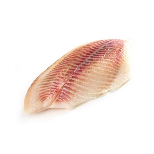 Филе морского окуня на коже, штучной заморозки, 1кг.