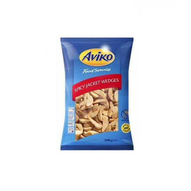 Картофель дольки в кожуре со специями (Авико) заранее обжаренный, замороженный, Нидерланды, 2,5 кг