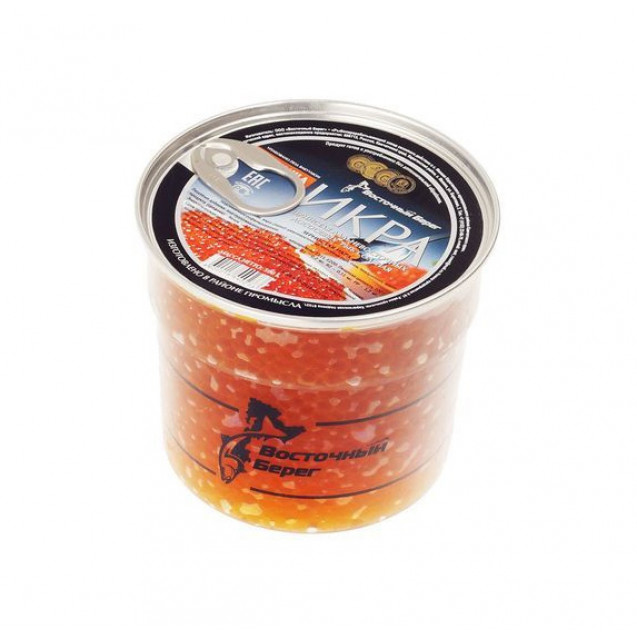 Икра лососевая зернистая ГОРБУШИ (Восточный Берег) Премиум, ключ, Вылов 2020 года, Камчатка, 550 гр.