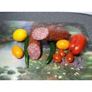 """Колбаса полусухая """"Мономах"""" сырокопченая (вес одного батона около 400 гр.) вакуум, """"Сытый смолянин"""", Смоленск, 1 кг"""