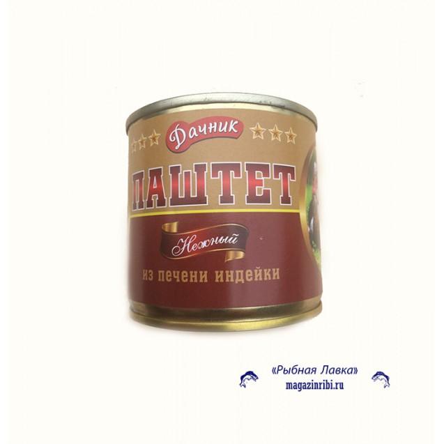 """Паштет нежный из печени индейки """"Дачник"""", Россия, 240 гр."""