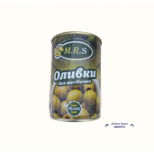 Оливки отборные без косточки (M.R.S.), Банка с ключем, Испания, 280 гр