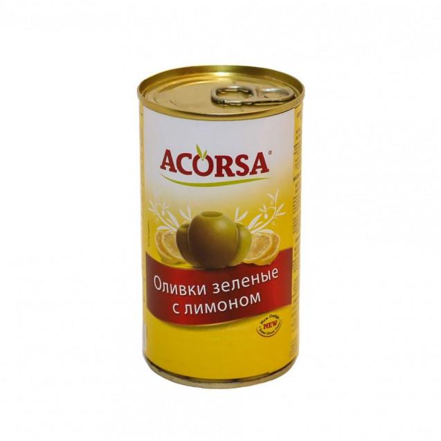 Оливки зелёные с лимоном, с ключом, Испания, 350 гр.