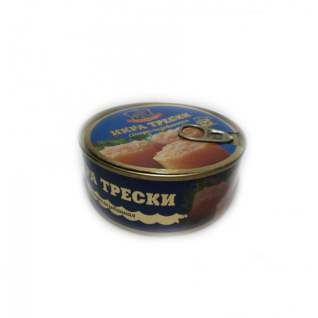 Икра трески стериализованная (Хавиар) ключ, Мурманск, 240 гр.