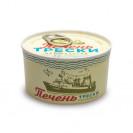 Печень трески натуральная, (Атлантрыбфлот) гост, изготовлено в море, ключ, Мурманск  185гр.