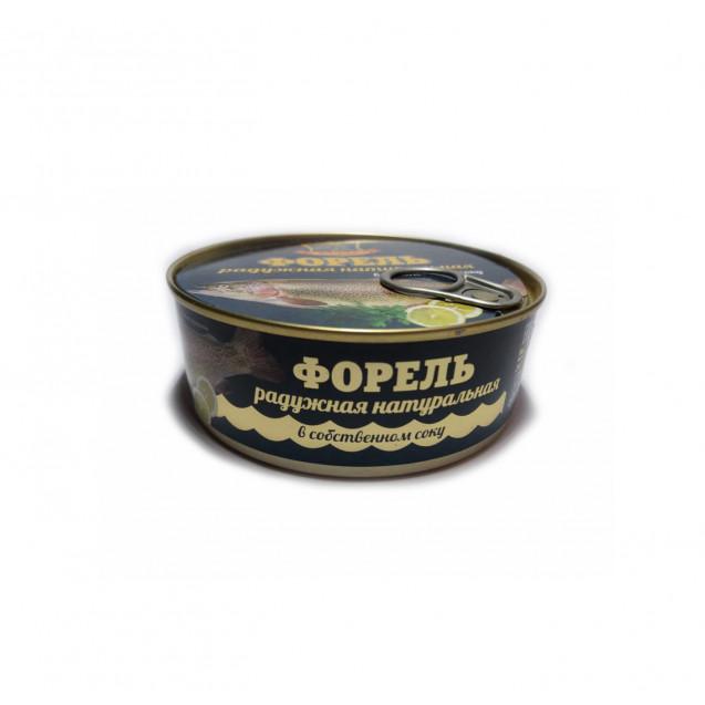 Форель радужная натуральная в собственном соку (Хавиар) ГОСТ, с ключом, Армения, 240 гр.