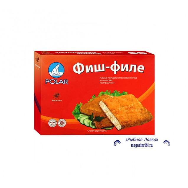 Фиш-филе, рыбные порции из тресковых пород в панировке, Россия, 400 гр.