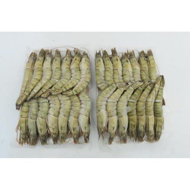 Креветка чёрная тигровая, целая (16-20 шт/кг) Вьетнам, 1 кг