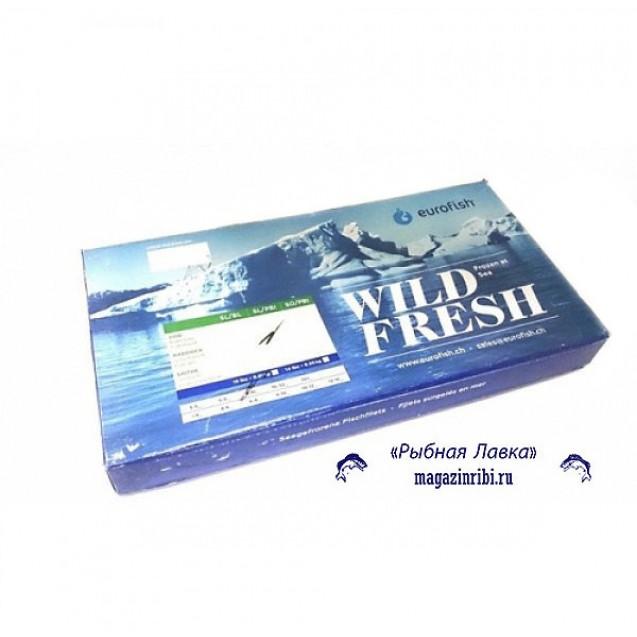 Филе сайды без кожи, проложенное (230-450) сухой заморозки (Еврофиш), изготовленно в море, Мурманск 6,81кг
