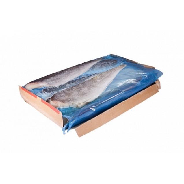 Филе трески на коже, проложенное (230-450) сухой заморозки, Еврофиш, изготовлено в море, Мурманск 6.81кг