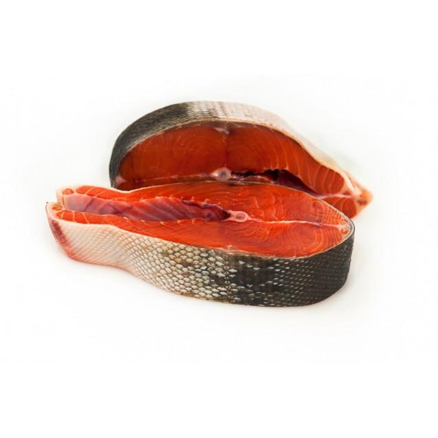 """Стейк нерки """"Дикой"""" (Премиальное качество) глазури 3-5%, Камчатка, 1кг"""