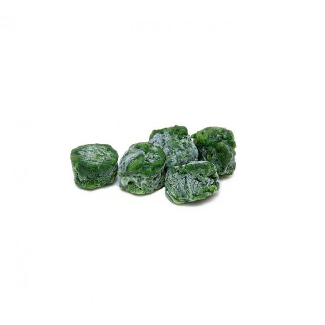 Шпинат листовой резанный порционный замороженый, Россия, 2.5кг