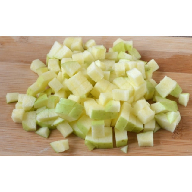 Яблоко кубиками, замороженное, Македония, 1кг